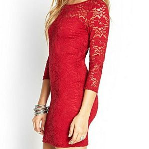 like NWOT Red lace dress